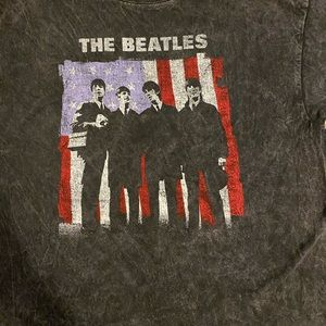 The Beatles cropped graphic tee